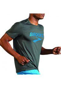 Brooks Running - Distance Graphic Short Sleeve. Materiał: lyocell, materiał. Długość: długie. Sport: fitness, bieganie
