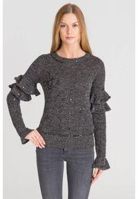 Sweter Patrizia Pepe krótki, z długim rękawem