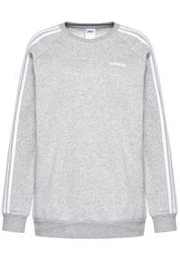 Adidas - adidas Bluza Essential Boyfriend Crew FN5785 Szary Regular Fit. Kolor: szary