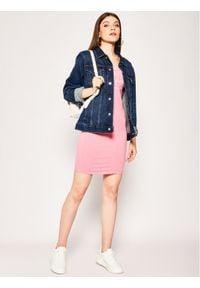 Superdry Sukienka letnia Graphic Bodycon W8010135A Różowy Regular Fit. Kolor: różowy. Sezon: lato. Typ sukienki: bodycon