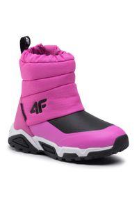 4f - Śniegowce 4F - HJZ20-JOBDW002 54S. Kolor: różowy. Materiał: materiał. Szerokość cholewki: normalna