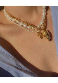 HERMINA ATHENS - Naszyjnik z perłami Tyche. Kolor: biały. Kamień szlachetny: perła