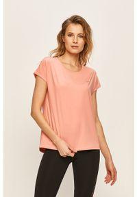 Only Play - T-shirt. Okazja: na co dzień. Kolor: różowy. Materiał: elastan, dzianina, poliester. Wzór: gładki. Styl: casual #1