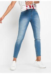 Dżinsy Super SKINNY, krótsze nogawki bonprix niebieski bleached. Kolor: niebieski. Długość: krótkie