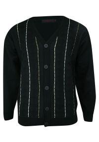 Czarny sweter Kings na co dzień, elegancki