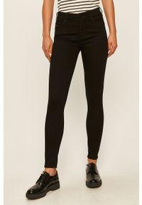 Czarne jeansy Diesel w kolorowe wzory