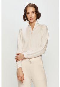 Biała bluza rozpinana Guess na co dzień, bez kaptura