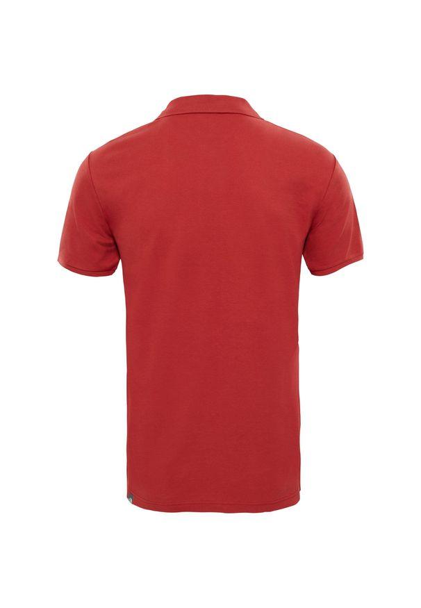 Czerwona koszulka sportowa The North Face polo