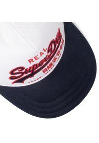 Superdry - Czapka z daszkiem SUPERDRY - Vintage Logo Trucker M9010007A White 04C. Kolor: niebieski. Materiał: materiał, bawełna. Styl: vintage #2