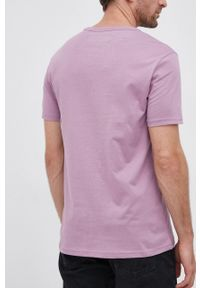 United Colors of Benetton - T-shirt bawełniany. Okazja: na co dzień. Kolor: fioletowy. Materiał: bawełna. Styl: casual