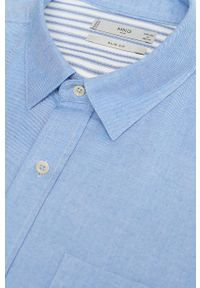 Niebieska koszula Mango Man długa, klasyczna, z długim rękawem