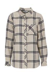 Cellbes Koszula flanelowa beżowy w kratkę female beżowy/ze wzorem 54/56. Kolor: beżowy. Wzór: kratka