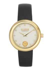 Versus Versace - Zegarek VSPEN1120. Kolor: czarny. Materiał: skóra, materiał