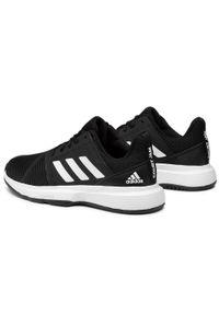 Czarne półbuty Adidas na co dzień, z cholewką, casualowe