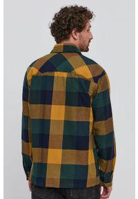 Selected - Koszula bawełniana. Typ kołnierza: kołnierzyk klasyczny. Kolor: żółty. Materiał: bawełna. Styl: klasyczny