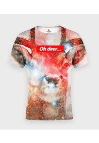 MegaKoszulki - Koszulka męska fullprint Oh deer 2. Materiał: bawełna, dzianina, materiał, poliester. Styl: klasyczny
