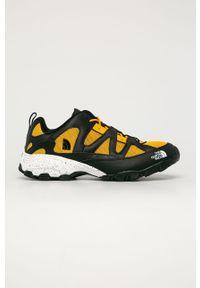 Żółte buty trekkingowe The North Face z okrągłym noskiem, na sznurówki