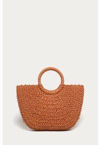 Pomarańczowa torba plażowa ANSWEAR wakacyjna