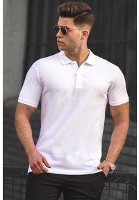 Biały t-shirt IVET casualowy, na co dzień, polo