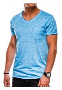 Niebieski t-shirt Ombre Clothing