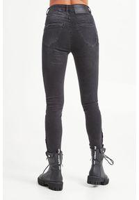 Jeansy klasyczne, z podwyższonym stanem