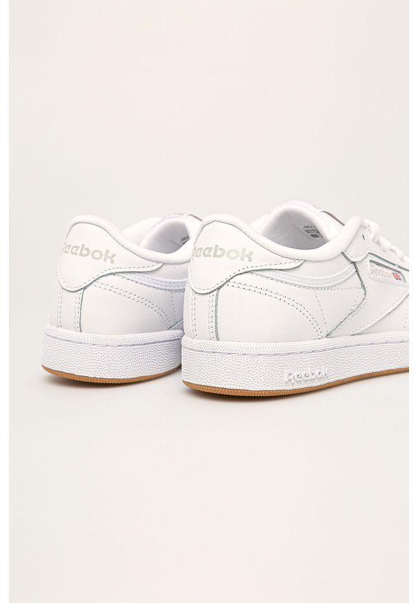 Białe buty sportowe Reebok Classic Reebok Classic, z cholewką, z okrągłym noskiem, na sznurówki