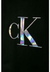 Czarna bluza Calvin Klein Jeans z kapturem, casualowa