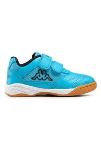 Kappa - Sneakersy KAPPA - Kickoff K 260509K Azur/Black 6211. Zapięcie: rzepy. Kolor: niebieski. Materiał: skóra ekologiczna, materiał. Szerokość cholewki: normalna #2