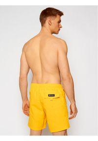 Champion Szorty kąpielowe Satin Script Logo Board 214428 Żółty Board Fit. Kolor: żółty