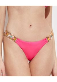BEACH BUNNY - Dół od bikini Tiana. Kolor: różowy, fioletowy, wielokolorowy. Materiał: materiał. Wzór: kolorowy, aplikacja