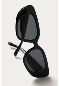 Czarne okulary przeciwsłoneczne Pieces owalne
