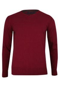Czerwony sweter Just Yuppi na co dzień, klasyczny
