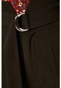 Czarne spodnie materiałowe medicine z podwyższonym stanem