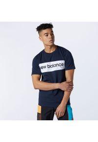 T-shirt New Balance krótki, casualowy