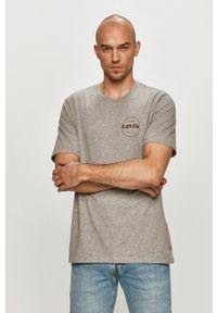 Levi's® - Levi's - T-shirt. Okazja: na spotkanie biznesowe. Kolor: szary. Wzór: nadruk. Styl: biznesowy