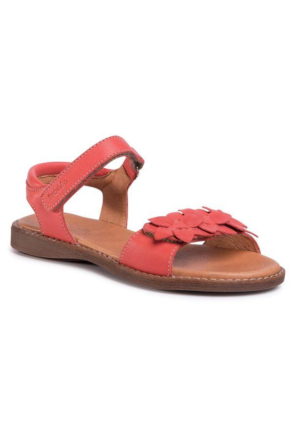 Czerwone sandały Froddo z aplikacjami, na lato, casualowe, na co dzień