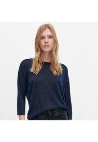 Niebieski sweter Reserved z kokardą