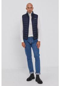 Calvin Klein - Bezrękawnik. Okazja: na co dzień. Kolor: niebieski. Długość rękawa: bez rękawów. Styl: casual