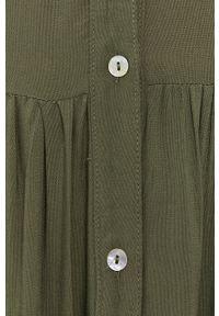 Haily's - Sukienka. Kolor: zielony. Materiał: tkanina. Wzór: gładki. Typ sukienki: rozkloszowane #5