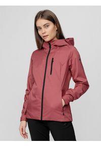 Różowa kurtka przeciwdeszczowa 4f z kapturem, na co dzień, casualowa