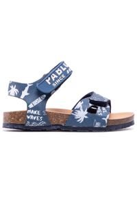 Pablosky - Sandały PABLOSKY - 501320 M Vaquero Jeans Oscuro. Kolor: niebieski. Materiał: skóra. Sezon: lato. Styl: klasyczny