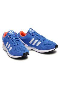 Niebieskie buty sportowe z cholewką, Adidas ZX