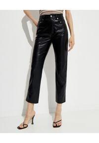 NANUSHKA - Czarne spodnie ze skóry ekologicznej Vinni. Kolor: czarny. Materiał: skóra ekologiczna