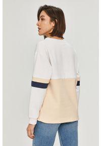 Biała bluza Roxy bez kaptura, z nadrukiem