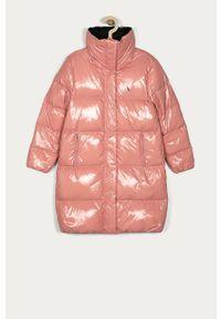 Różowa kurtka Calvin Klein Jeans casualowa, bez kaptura