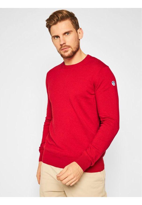 Czerwony sweter klasyczny North Sails