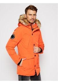 Superdry Kurtka zimowa Everest M5010204A Pomarańczowy Regular Fit. Kolor: pomarańczowy. Sezon: zima