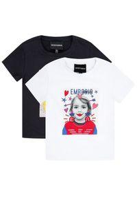 Emporio Armani Komplet 2 t-shirtów 3H3D02 3J2IZ 0922 Kolorowy Regular Fit. Wzór: kolorowy
