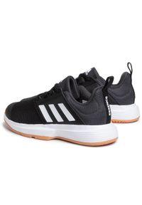 Czarne halówki Adidas Adidas Cloudfoam, z cholewką