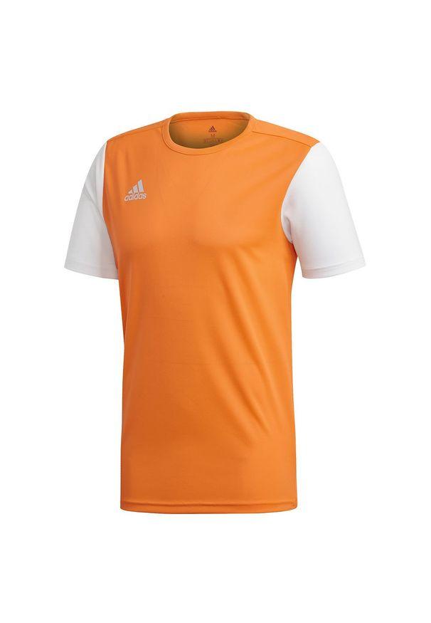 Adidas - Koszulka piłkarska dla dzieci adidas Estro 19 Jr DP3227. Materiał: materiał, syntetyk, włókno, skóra, poliester. Długość rękawa: krótki rękaw. Technologia: ClimaLite (Adidas). Długość: krótkie. Sport: piłka nożna